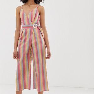 NEW Moon River | Rainbow Stripe Jumpsuit size S